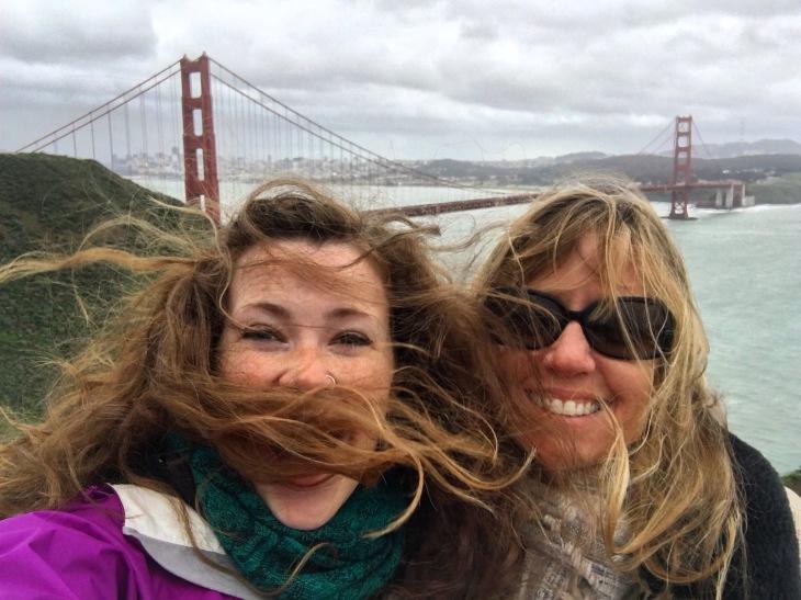 Harriet and Sarah Golden Gate Bridge
