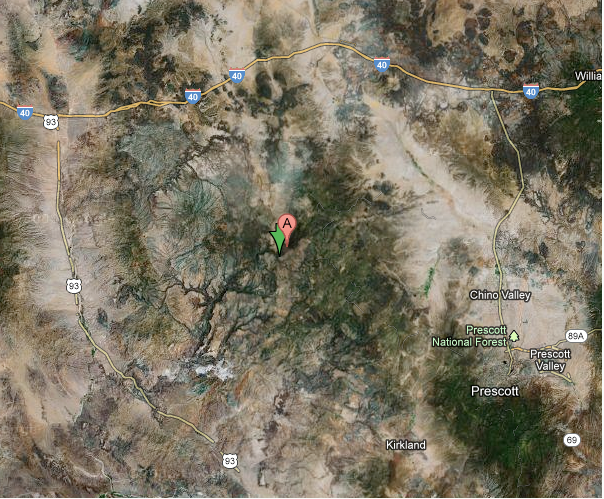 Google Map Giant Canyon